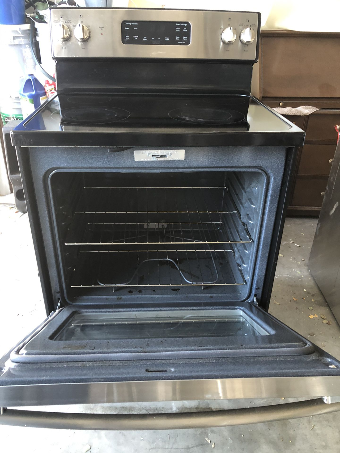 GE Electric Range Stainless Steel Good Condition Everything Work Perfect