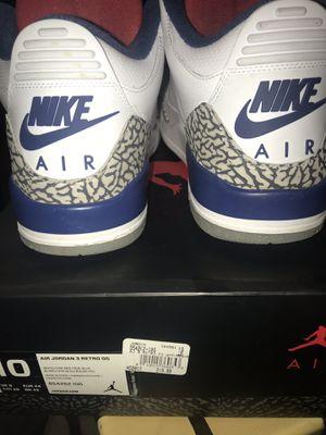 Air jordan true blue 3 size 10 for Sale in Castro Valley, CA