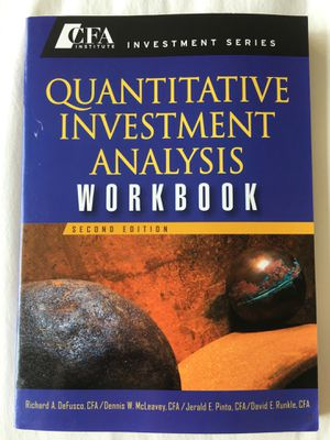Quantitative Investment Analysis Workbook for Sale in Baltimore, MD
