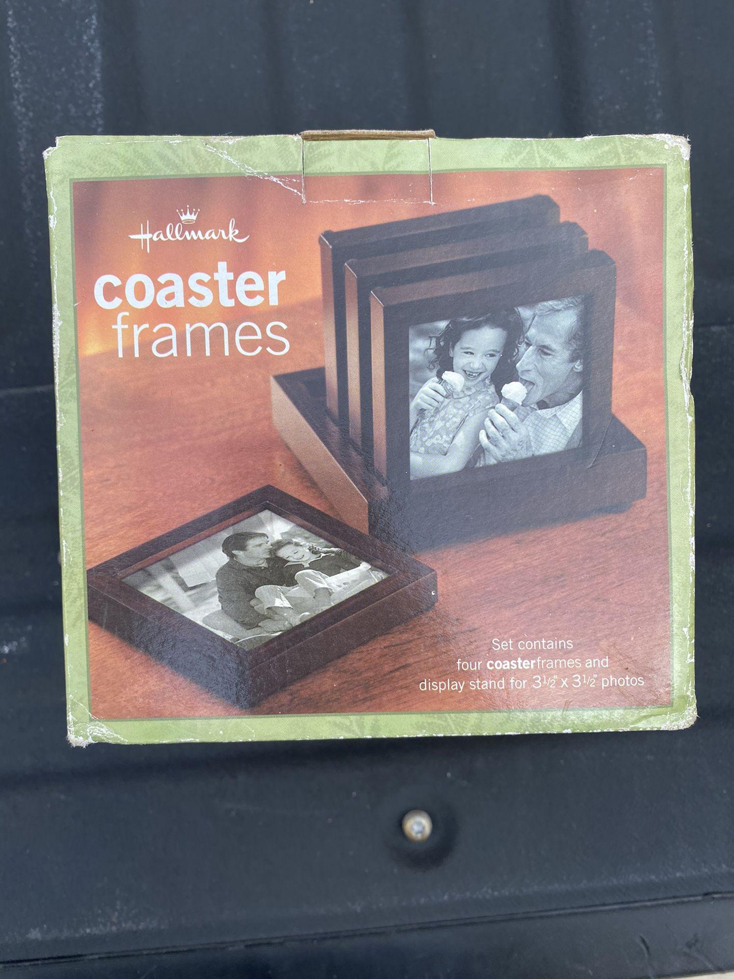Hallmark Brown Wooden Picture Coaster Frames