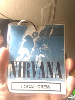 Nirvana back stage pass local crew for Sale in St. Louis, MO