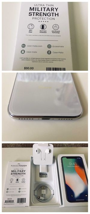 *BRAND NEW* iPhone X 10 Apple -256GB - Silver Unlocked for Sale in Baltimore, MD