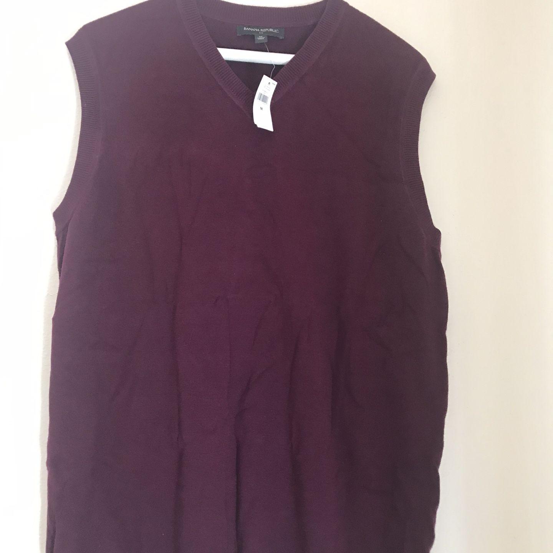 Banana Republic V-Neck Sweter Vest Men Size M
