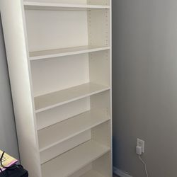 White IKEA Bookshelf   Thumbnail