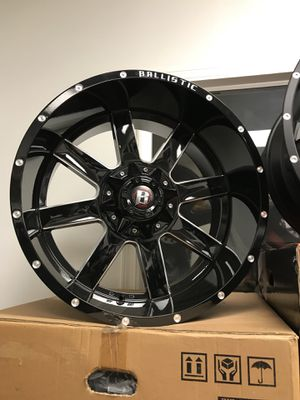 22 x12 6 lug Ford F-150 or Chevy Silverado $1299 set of 4 for Sale in Chicago, IL