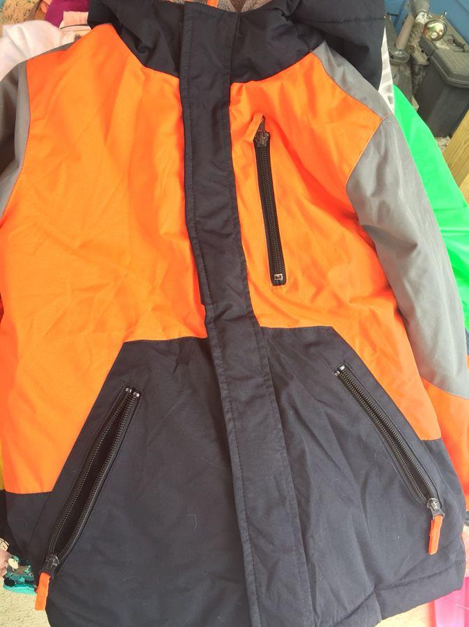 Orange jacket for boy