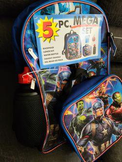 Avengers 5 piece Backpack Set Thumbnail