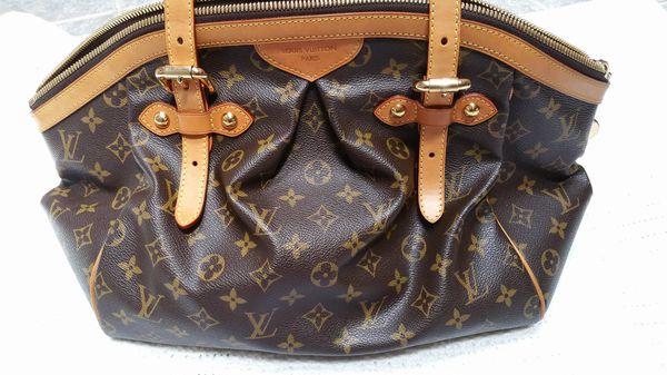 38c8ec5b762e Authentic Louis Vuitton Tivoli GM monogram canvas shoulder tote handbag
