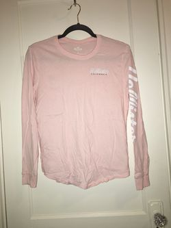 Light Pink Hollister Shirt, Size XS Thumbnail