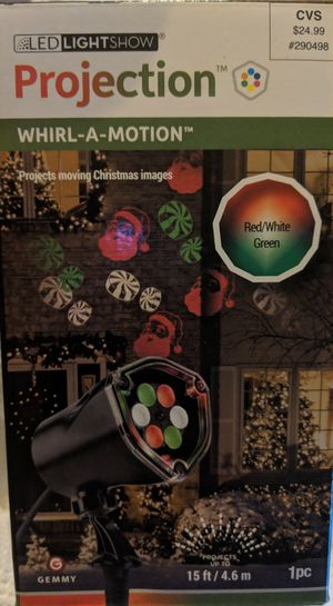 "NEW Christmas Projection Light ""whirl a motion santa"" for Sale in Columbus, OH"