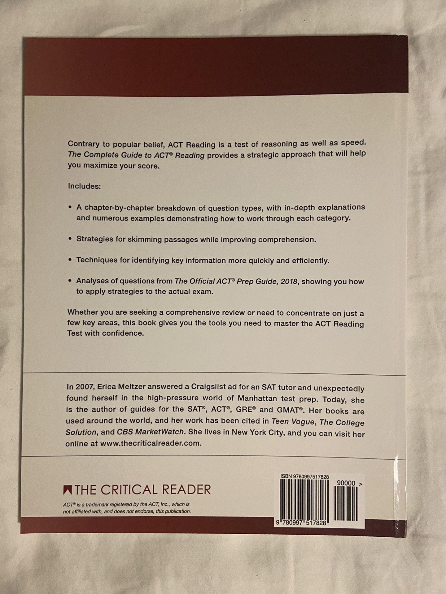 ACT Reading Book, Erica L. Metlzer