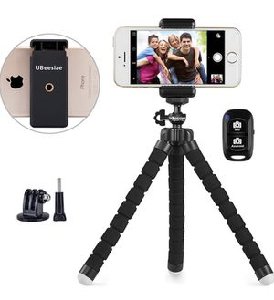 Phone Tripod, UBeesize Portable and Adjustable Camera Stand Holder with Wireless Remote and Universal Clip, Compatible with iPhone, Android Phone, Ca for Sale in Woodbridge, VA