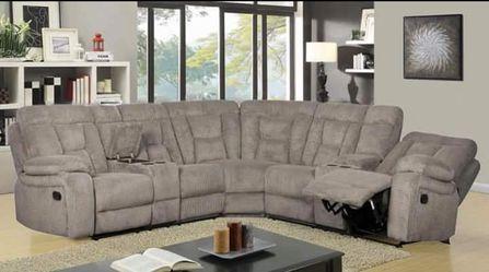 Reclining sectional sofa brand new Thumbnail