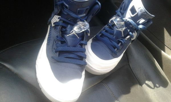 a6191f7a57c8 ... NIKE MENS AIR JORDAN SPIZIKE MIDNIGHT NAVY BLUE AND WHITE for Sale in  Fresno