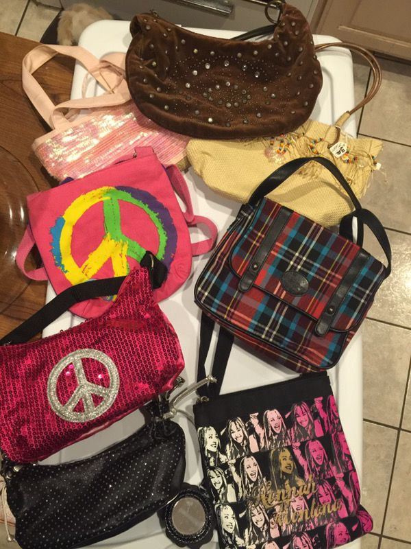 8 little girls purses asking less than 5.00@( pink sequence free ...
