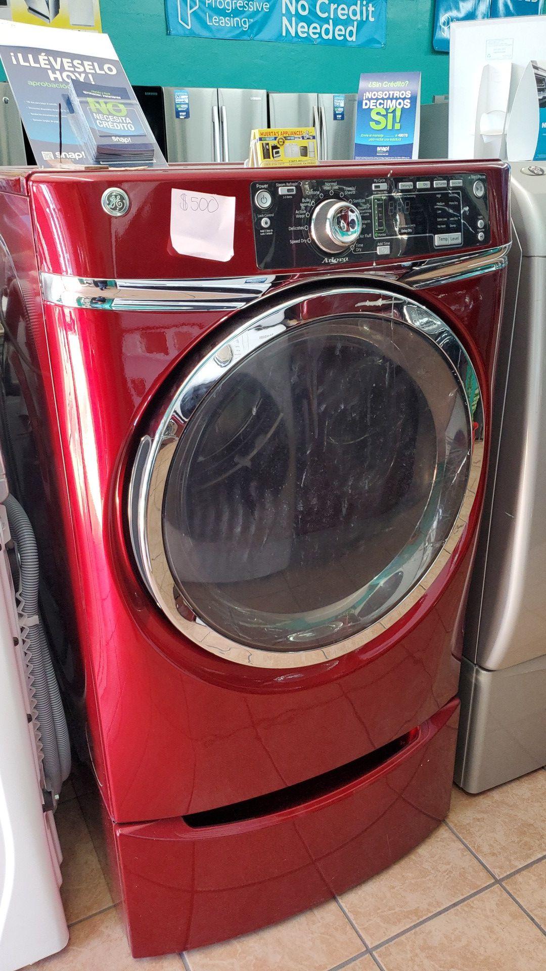 G.e cherry red dryer