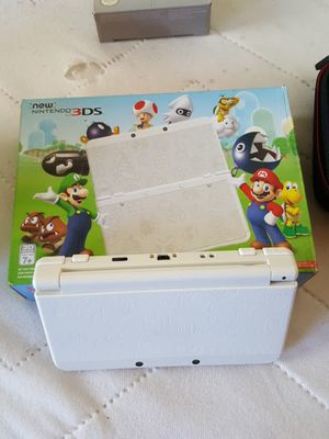 Nintendo 3ds White Mario addition with 9 games and Nintendo charger and case for Sale in San Diego, CA