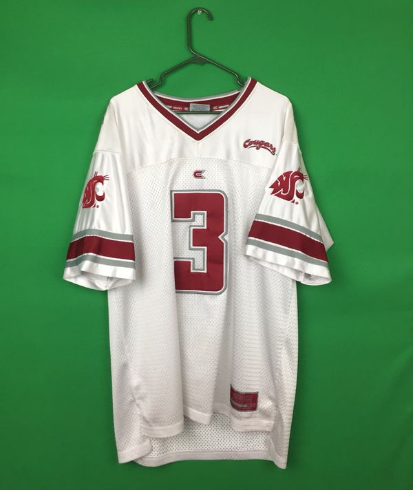 e3747d5c2 WSU Cougars Football Jersey vintage WSU cougar Jersey by Colosseum size L  Washington State University Cougars Jersey Football Jersey