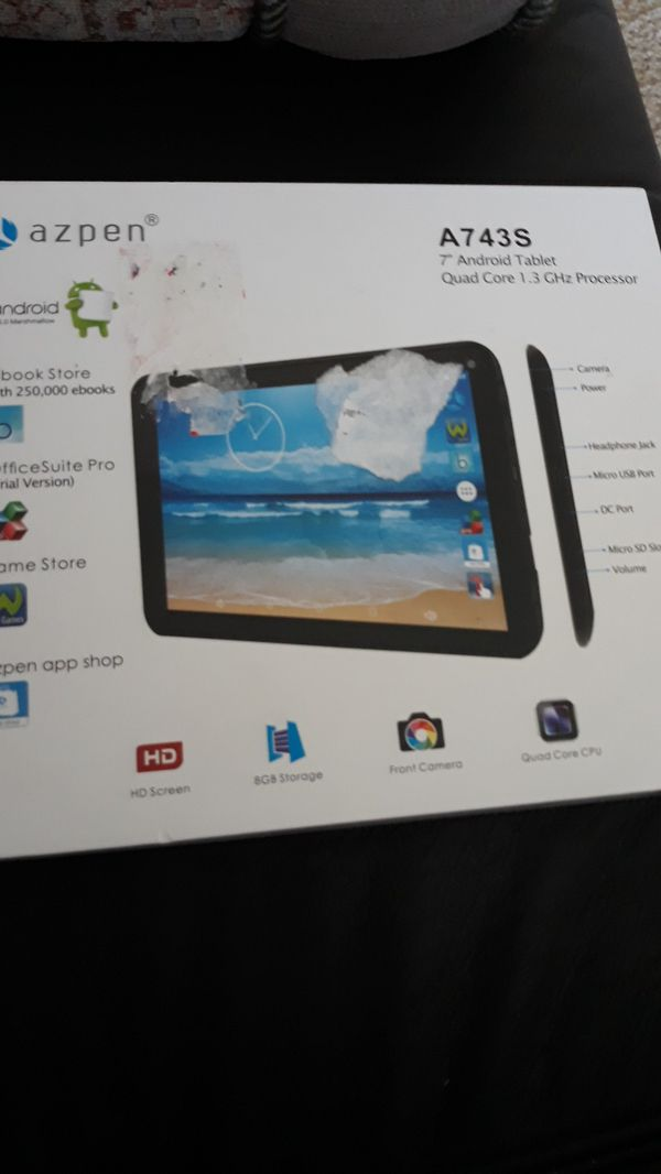 Azpen a743s 7 inch android tablet for Sale in Chicago, IL - OfferUp