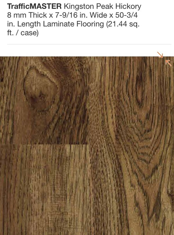 Trafficmaster Kingston Peak Hickory Laminate Flooring
