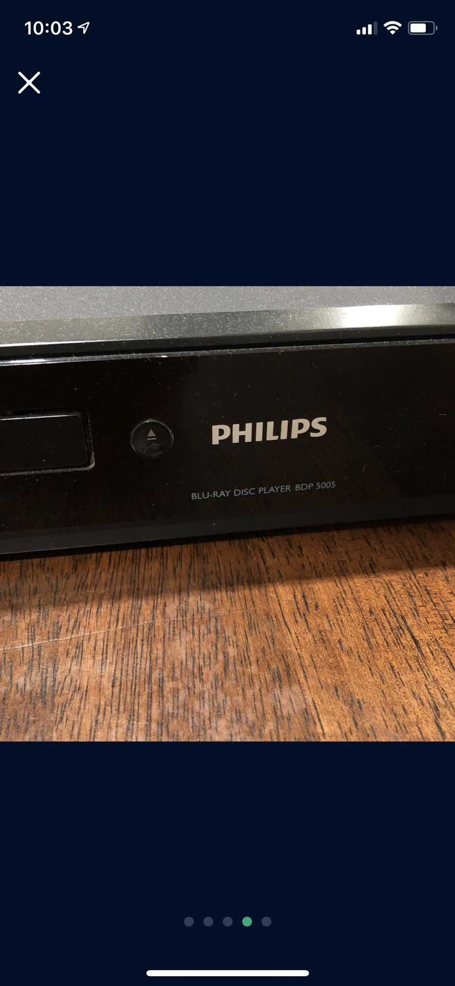 Blu-ray player with DVD collection