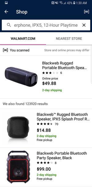 Blackweb rugged premium bluetooth speaker for Sale in Houston, TX - OfferUp