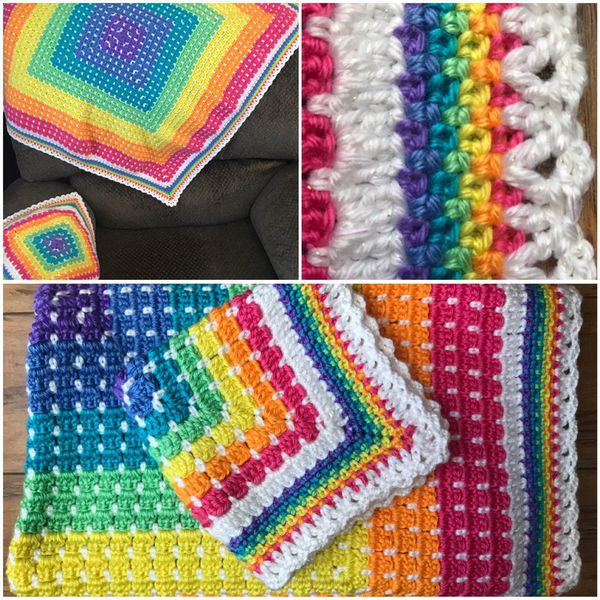 Rainbow Crochet Baby Blanket And Lovey For Sale In Orting Wa Offerup