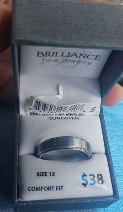 Tungsten ring size 12 Thumbnail