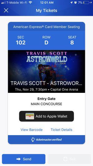 Front Row Travis Scott tickets for Sale in Fairfax, VA