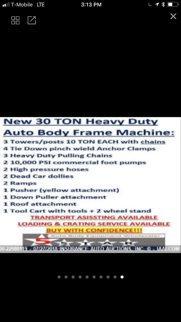 2018 5 star frame machine for Sale in Los Angeles, CA - OfferUp