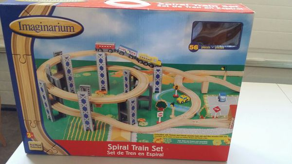 Imaginarium Spiral Train Set 56 pieces Real Wood for Sale in ...