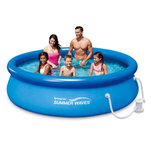 Photo Summer Waves Quick Set 10ft Swimming Pool With Filter And Filter Pump