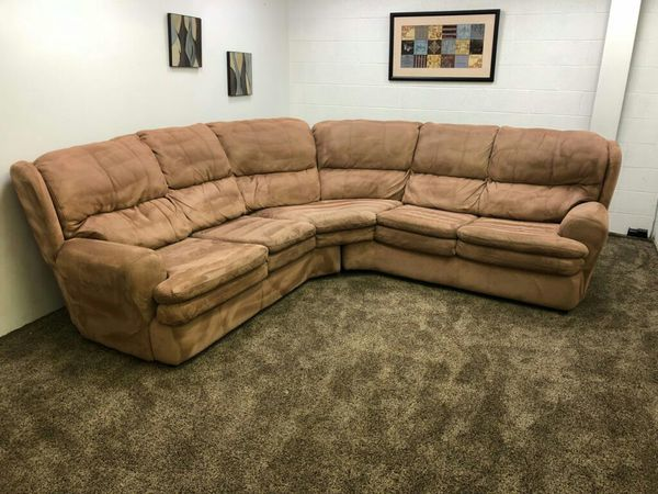 1061 Rose Pink Microfiber Sectional Sofa Furniture In Lake Oswego