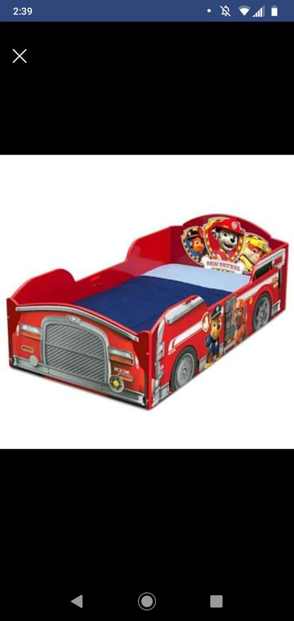 Toddler Paw Patrol Red Fire Truck Bed Wood Bed Frame ...