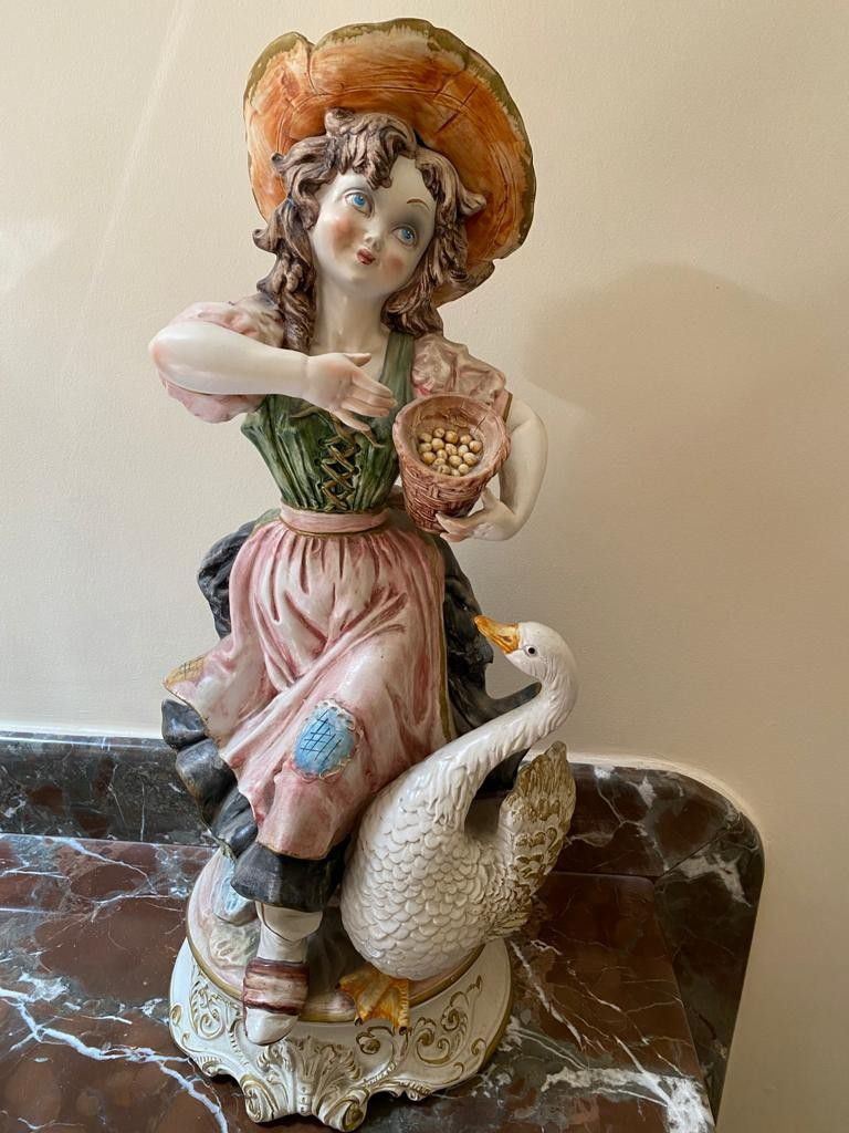 Porcelain Statues (2) - Made in Italy