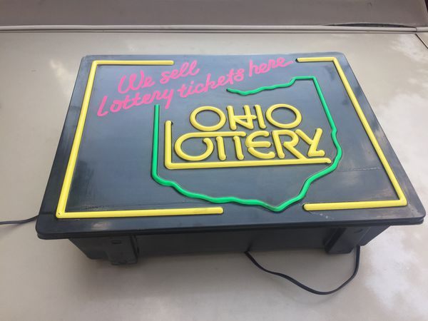Ohio lottery light up sign for Sale in Cleveland, OH - OfferUp