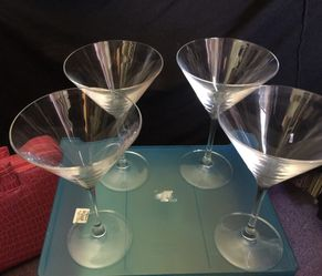 Cristal d'Arques France Martini glasses. What's your favorite Martini? Thumbnail