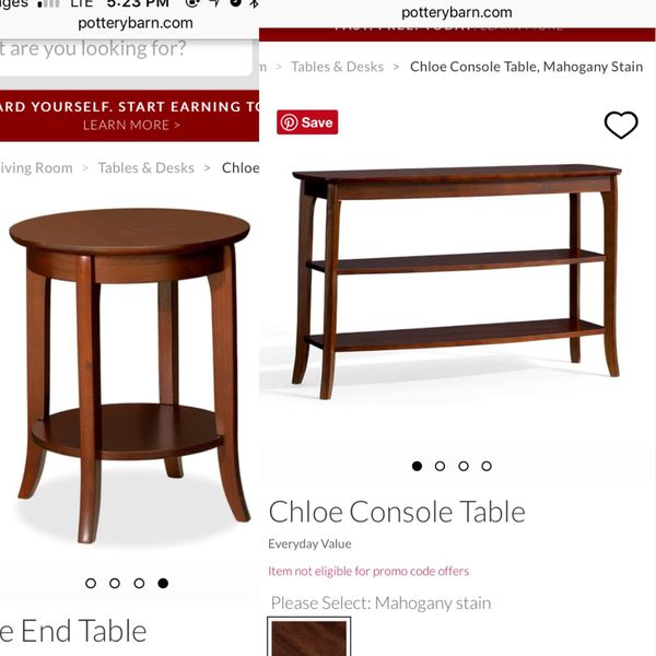 Pottery Barn Chloe Tables For Sale In Chicago IL OfferUp - Pottery barn chloe end table