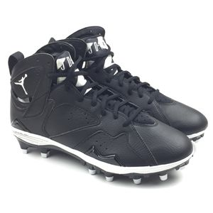 1c88cd493fdd ... Nike Air Jordan Retro 7 TD Mens Football Cleats Size 9.5 Black New  719543- 010 ...
