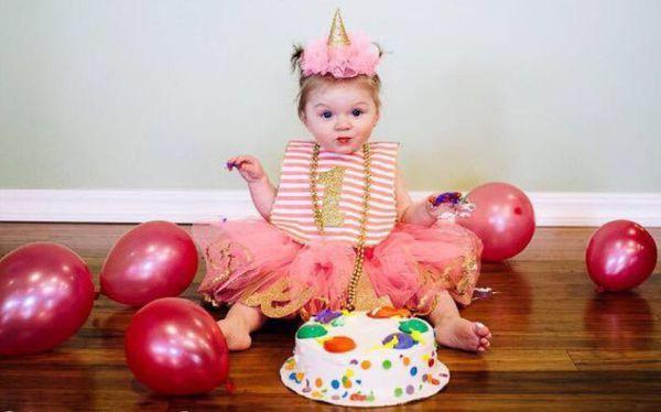 Pink Gold 1st Birthday Tutu Glitter Hat And 1 Matching Bib
