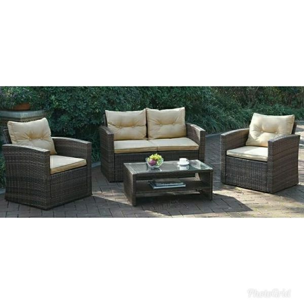 New Patio Furniture Set 2 Arm Chairs And 1 Loveseat Tail Table In Ontario Ca Offerup