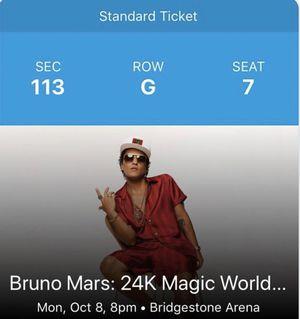 Bruno Mars Tickets 10/8 for Sale in Nashville, TN