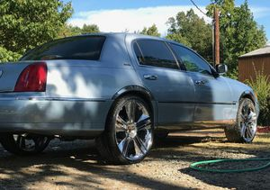 24 Inch Rims 5 Lug Universal All 4 Center Caps Needs One Tire For