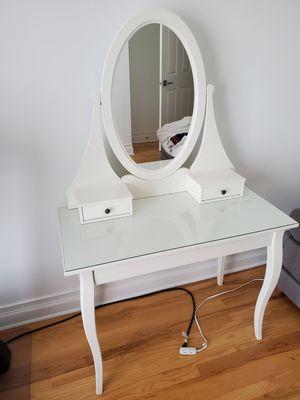 Photo IKEA Hemnes Dressing Table Makeup Station Mirror White 303.744.13