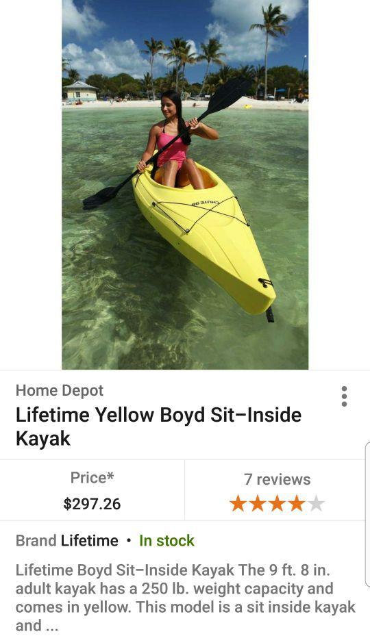 Lifetime Boyd Sit in Kayak for Sale in Litchfield Park, AZ - OfferUp