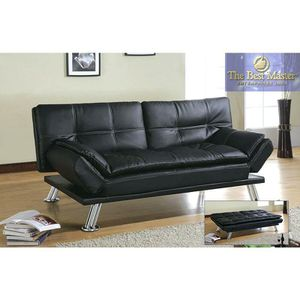 Black Faux Leather Futon For In Irwin Pa