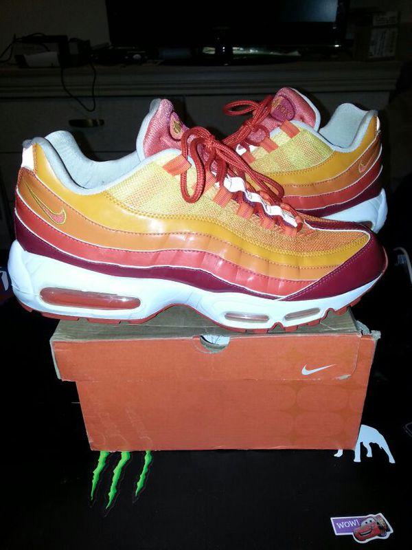 size 40 e6527 322fe Nike Air Max 95 human torch fantastic 4