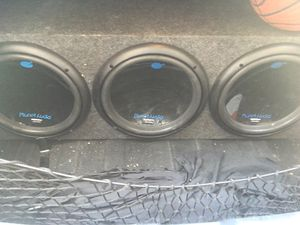 "3 12"" subs with high power amp for Sale in Las Vegas, NV"