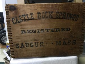Vintage spring water wood crate for Sale in Branford, CT