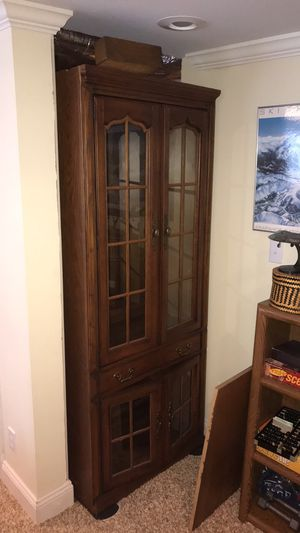 Mirrored china hutch for Sale in Charlottesville, VA